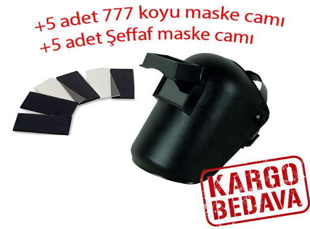 BAŞ KAYNAK KORUYUCU KAPAKLI CAMLI (5X11) +10 ADET CAM