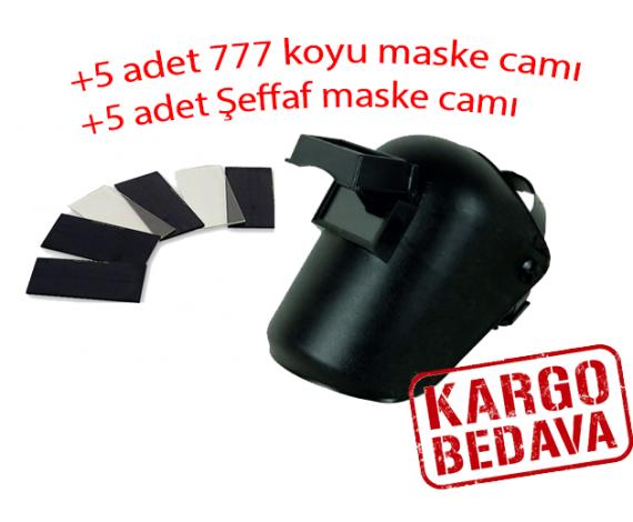 BAŞ KAYNAK KORUYUCU ŞEFFAF CAMLI (8X11) +10 ADET CAM